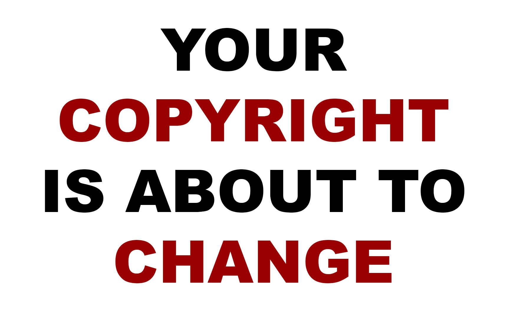 how to change copyright on files